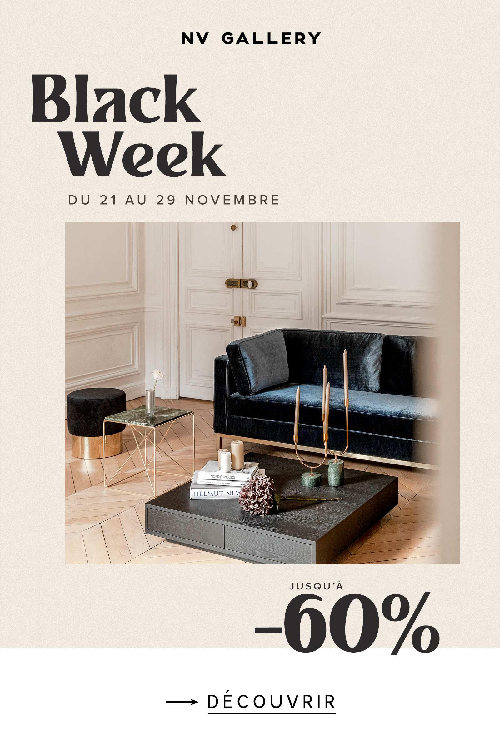 Black Week jusqu'à -60%